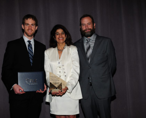 Award Ceremony (from left to right): Matt Carlson from Sandia, Yasmin Dennig from Sandia, Aaron Wildberger from VPE.