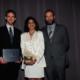 Award Ceremony (from left to right): Matt Carlson from Sandia, Yasmin Dennig from Sandia, Aaron Wildberger from VPE.