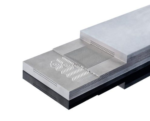 diffusion bonded microchannel heat exchanger (MCHE)